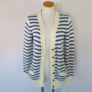 NWT Tommy Hilfiger Blue and White Stripe Cardigan
